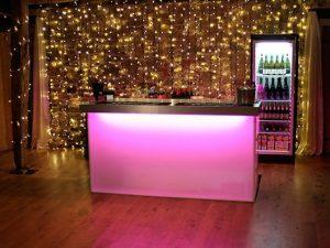 pink bar fairy lights