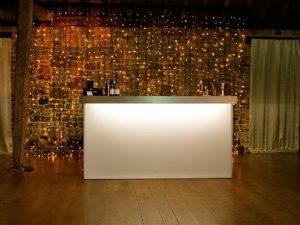 white bar fairy lights